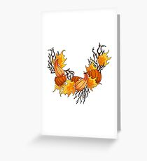 Autumn Pearls on White Greeting Card