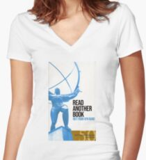 """Atlas Shrugged"" for Smoothbrains Women's Fitted V-Neck T-Shirt"