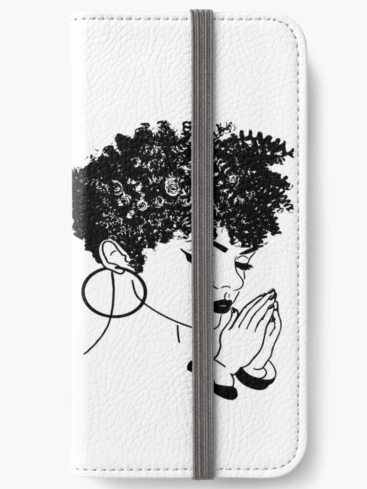 'Afro hairstyle Woman Praying Life Quotes Diva Queen' iPhone Wallet by  DesignsByAymara