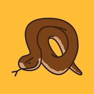 Eastern Brown Snake Cartoon - Dangerous Animals by nutandbolt