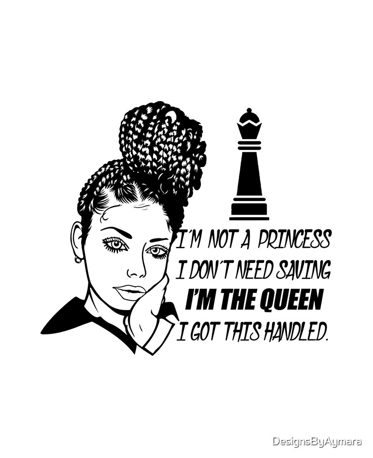 Braids hairstyle Black Woman Life Quotes Diva Queen | iPad Case & Skin