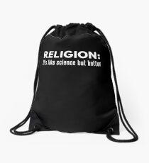 Religion Like Science But Better Bible Christian Drawstring Bag