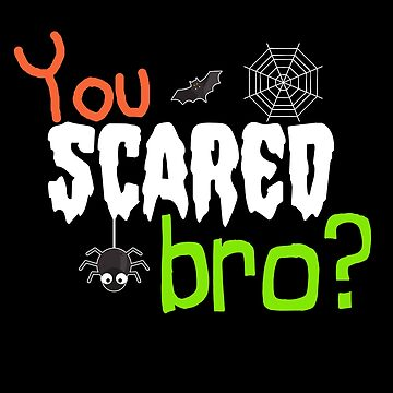 Scared Bro Halloween Party  by PopArtDesigns