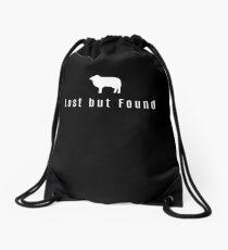 Lost But Found Bible Christian Good Shepard Sheep Drawstring Bag