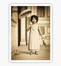 Vintage Girl Sticker