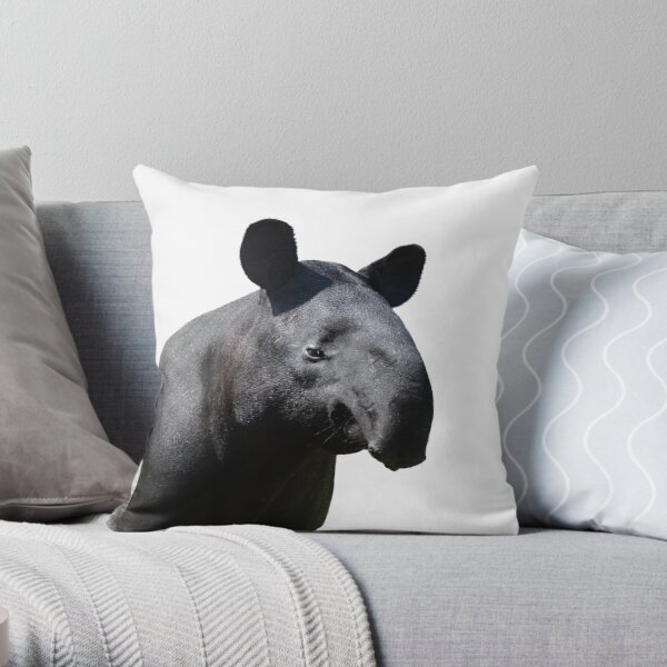 The Most Handsome Tapir in the World Throw Pillow