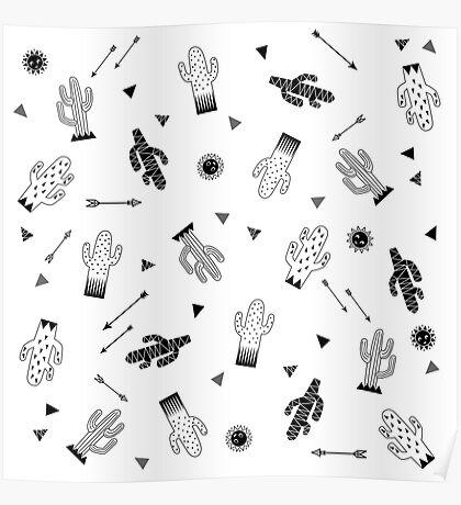 Rocking cactus Poster