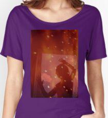 Tänzer Nacht Sterne Fantasy Analog Film Doppelbelichtung Loose Fit T-Shirt