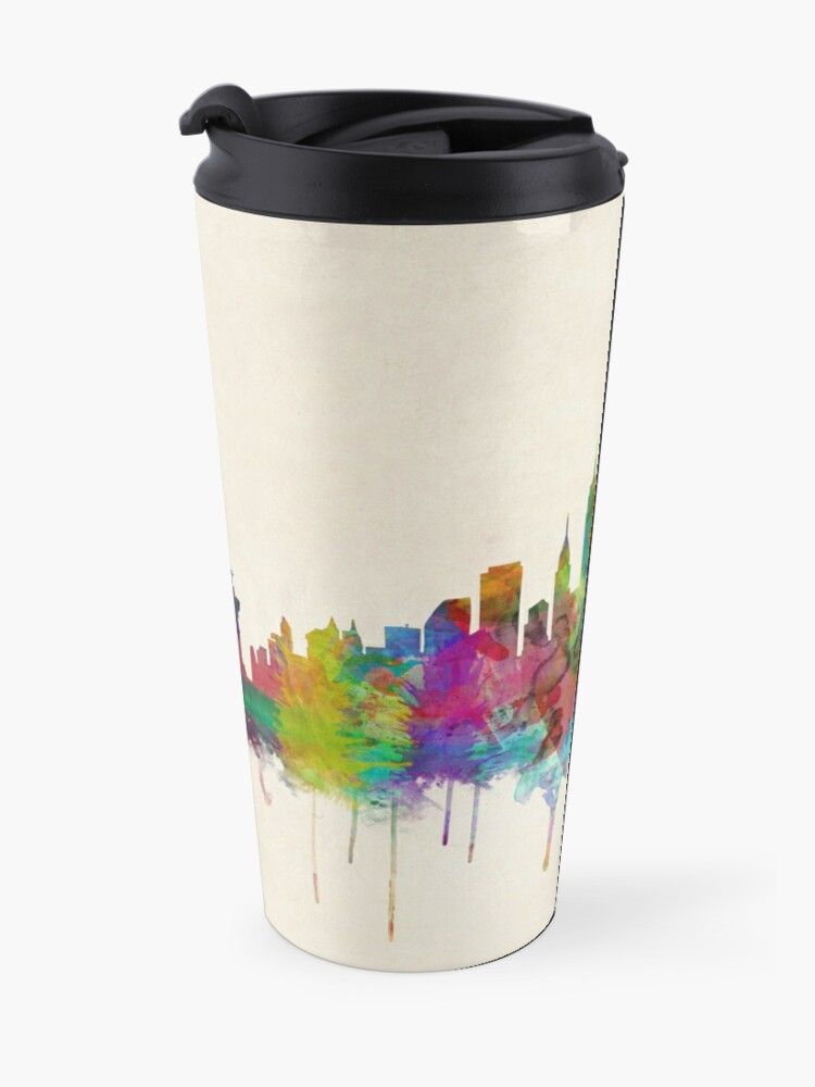 Alternative Ansicht von New York City Skyline Thermobecher