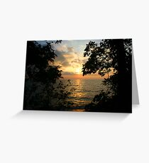 Pelee sunset Greeting Card