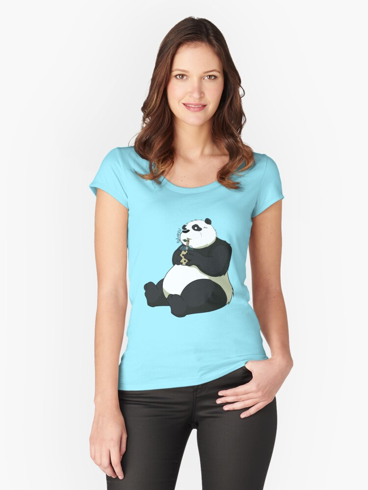 Bamboo Straw Women's Fitted Scoop T-Shirt Front