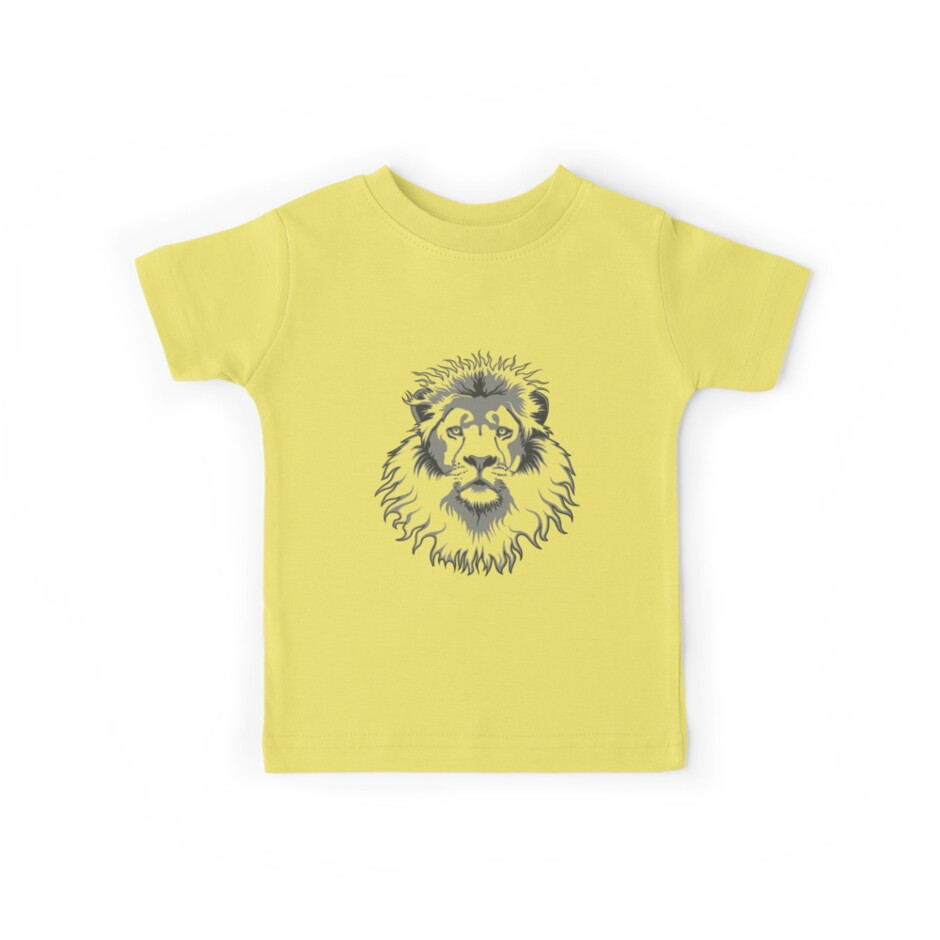 Quot Lion Head Quot Kids Tees By Rustyoldtown Redbubble