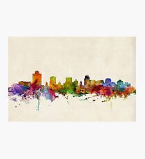 Salt Lake City Skyline Cityscape Photographic Print