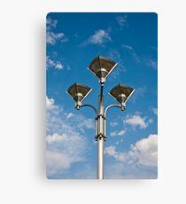 Triple Street Lamp Canvas Print