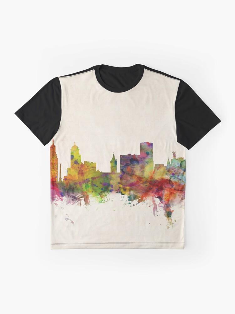 Alternative Ansicht von Buffalo New York Skyline Stadtbild Grafik T-Shirt