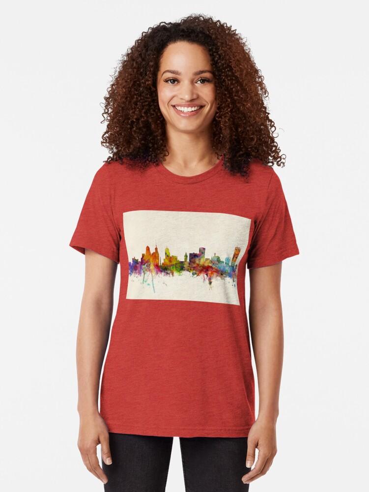 Alternative Ansicht von Buffalo New York Skyline Stadtbild Vintage T-Shirt