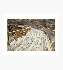 Ancient Amphitheater Detail Art Print