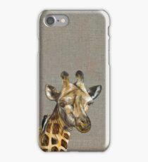Die Giraffe hat 'nen Vogel - Giraffe with bird iPhone Case/Skin