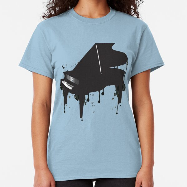 Mens I PLAY Piano Pianist Grand Acoustic Classic Novelty Music instrument TShirt