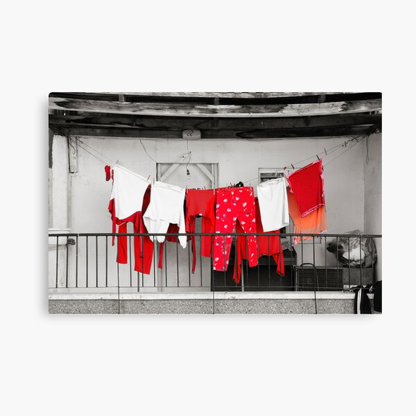Red laundry Canvas Print
