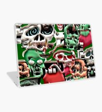 skulls christmas  Laptop Skin