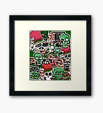 skulls christmas  Framed Print