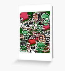 skulls christmas  Greeting Card