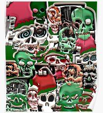 skulls christmas  Poster