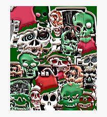 skulls christmas  Photographic Print