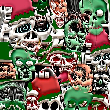 skulls christmas  by bywhacky