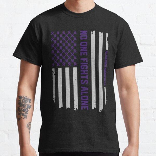 Alzheimer's Awareness Shirts - Alzheimers Awareness American Flag Classic T-Shirt