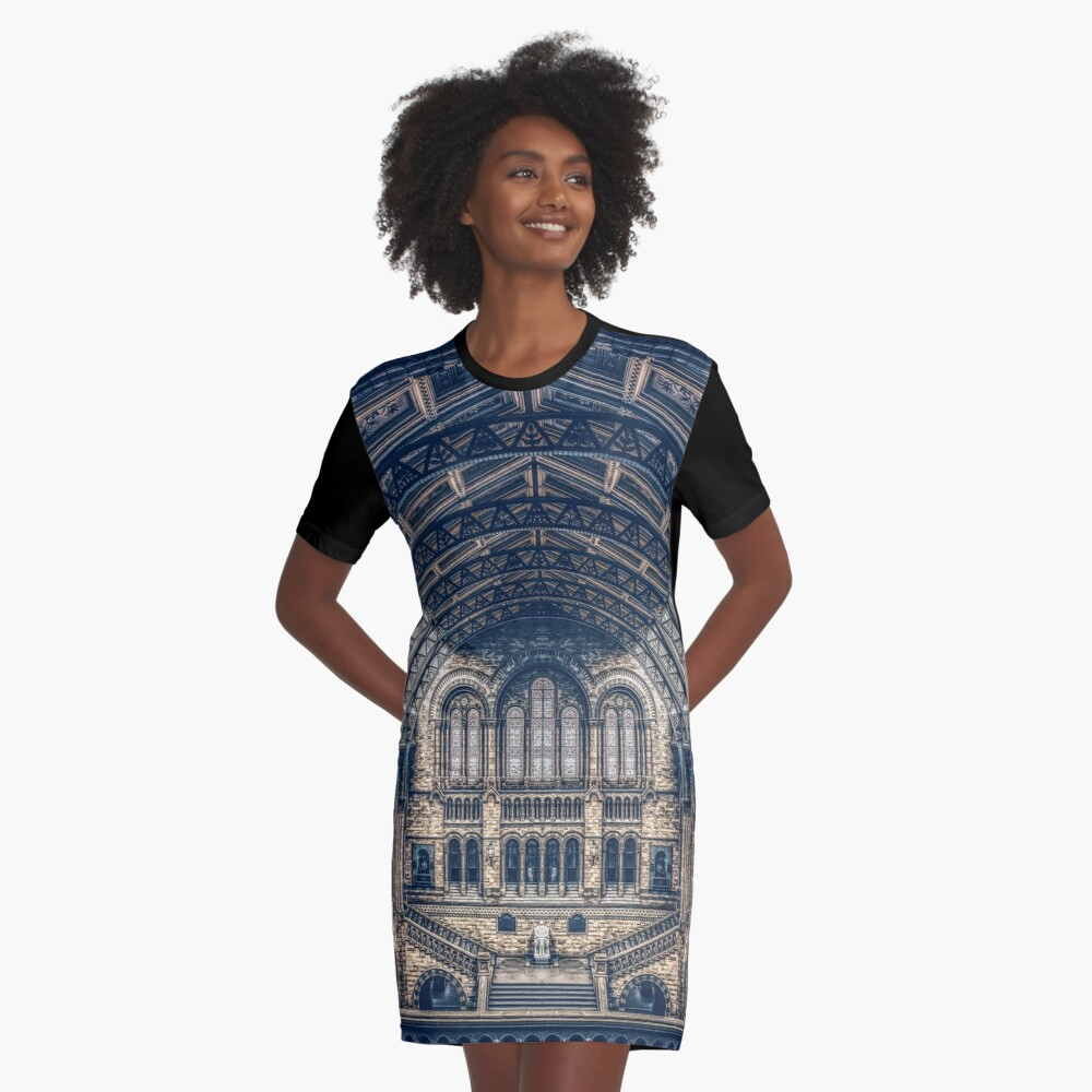 Architectural Reflections Graphic T-Shirt Dress