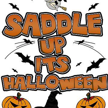 Halloween Witch Flying Saddle Pumpkin Jack by Gestvlt