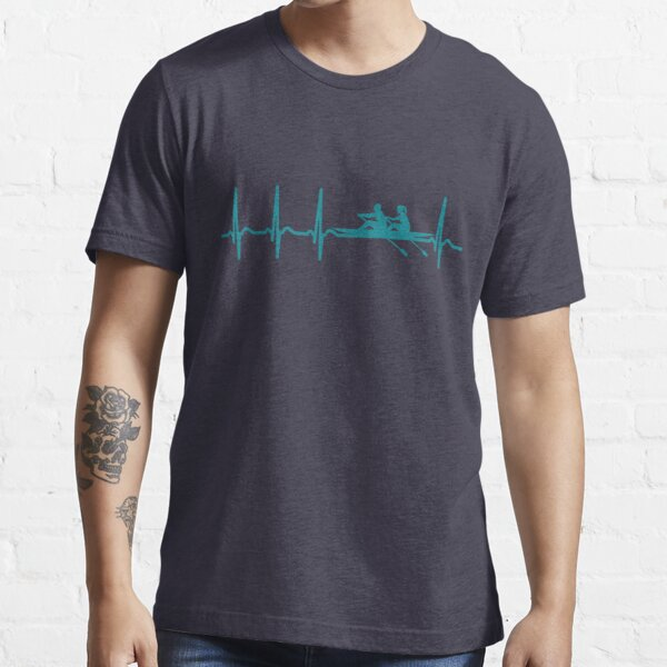 Heartbeat Rowing T-Shirt - Cool Funny Nerdy Comic Graphic Rowing Rower Rowing Rowing Club Rowing Team Humor Saying Sayings Statement Shirt Gift Gift Idea Essential T-Shirt