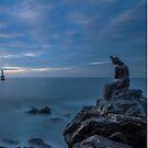 Mermaid statue at Haeundae beach by hayrettinsokmen