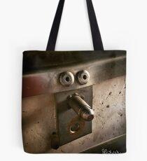 Faccia di rivetti Tote Bag