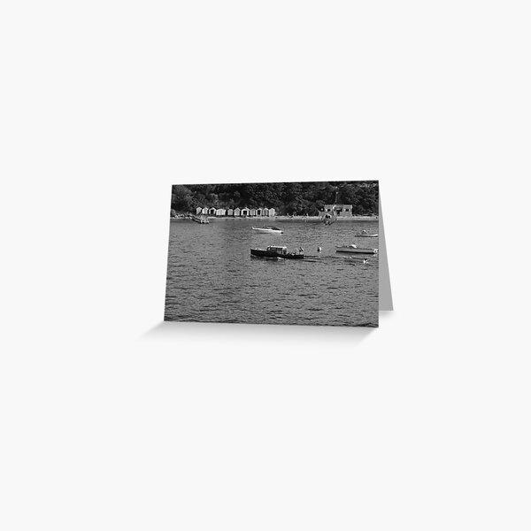 Sorrento Bathing Boxes Greeting Card