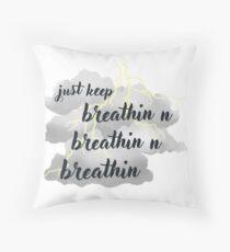 breathin Throw Pillow