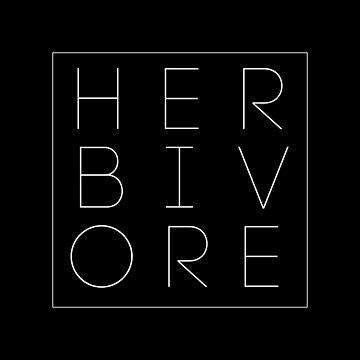 HERBIVORE Vegan Slogan by Bebichic