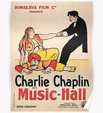 Charlie Chaplin, Music Hall Poster Design, Himalaya Film C Poster