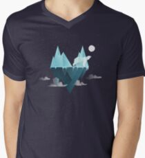 Low Poly Polar Bear Men's V-Neck T-Shirt