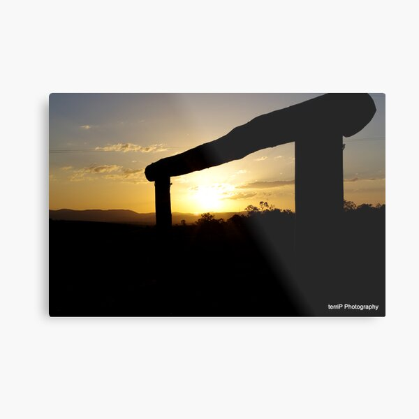 Rural Sunset Metal Print