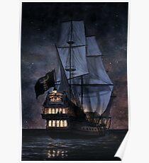 Das Walross in der Nacht Poster