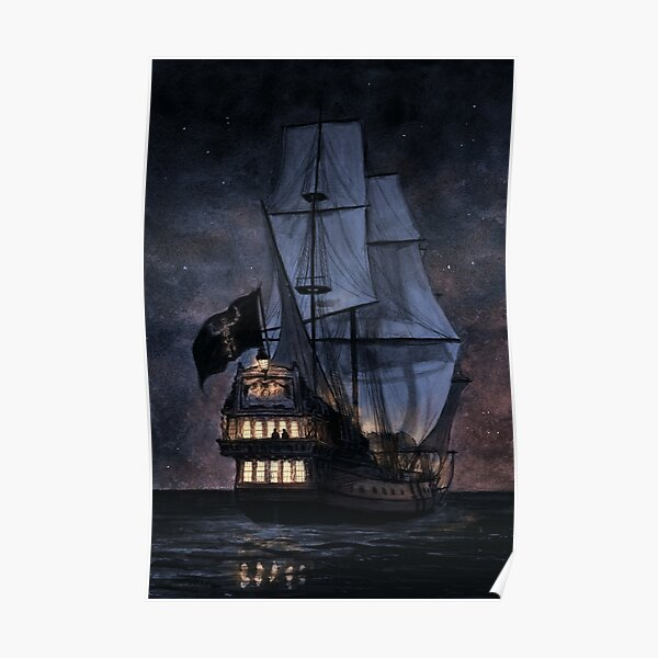 The Walrus at Night Poster