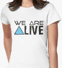 Detroit Become Human : We are Alive Women's Fitted T-Shirt