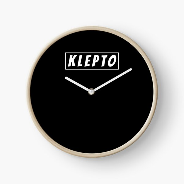 Funny Klepto Kleptomaniac Thief Theft Jokes Joke Lover Shirt Clock