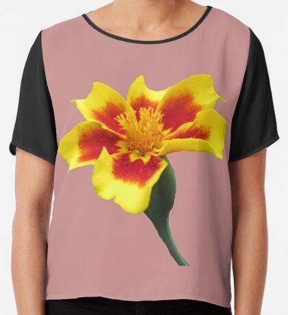 eine wunderschöne bunte Blume, Blüte, Natur Chiffontop für Frauen