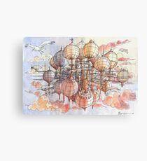 The flying village! Canvas Print