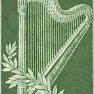 Vintage Green Harp..symbolizing the Berlin Philharmonic by edsimoneit