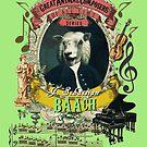 Johann Sebastian Baach Classical Music Animal Pun Bach Sheep by AnimalComposers